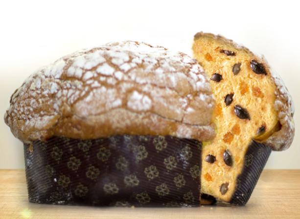 Panettone artigianale al arancia e cioccolato